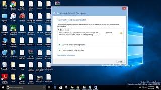 How to  Fix DNS Server is not Responding Error on windows 10 /  8.1  / 7