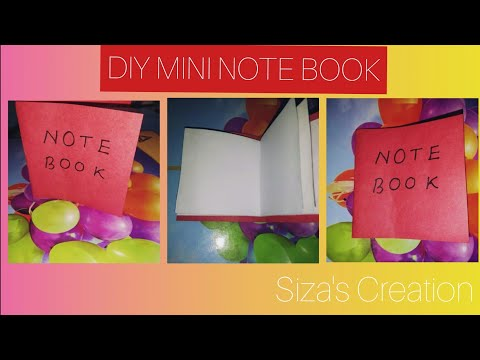 DIY MINI NOTE BOOK ONE SHEET OF PAPER  | SIZA RAHAMAN |