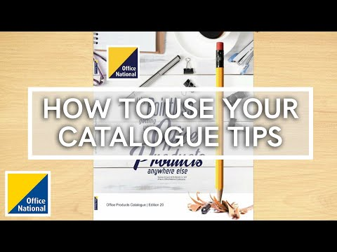 How to use your Catalogue Tips | FREE Stationery Catalogue