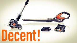 Worx Air Blower and GT Trimmer WG918 Unbox and Demo