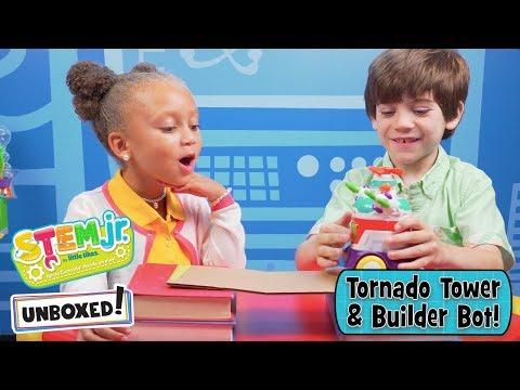unboxed!-|-stem-jr.-by-little-tikes-|-episode-2:-tornado-tower-&-builder-bot-|-stem-toys-for-kids