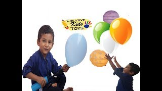 Learning colors with balloons for babies || Fun playing Balloons for kids || Creative Kids Toys
