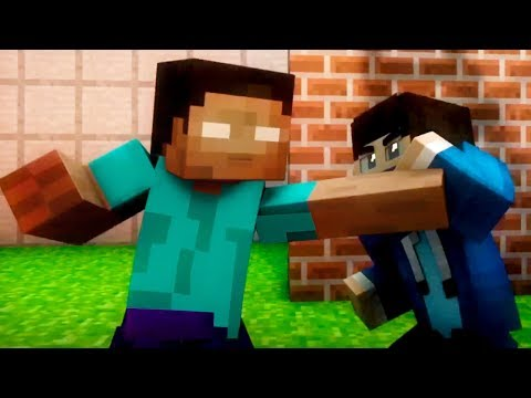 Herobrine vs Hacker! Best Minecraft Animations (Top Minecraft Songs)