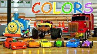 Eğitici çizgi film. Yarış arabalarla beraber  renkleri öğreniyoruz.