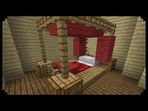 Minecraft How To Make A Poster Bed Youtube Interiors Inside Ideas Interiors design about Everything [magnanprojects.com]