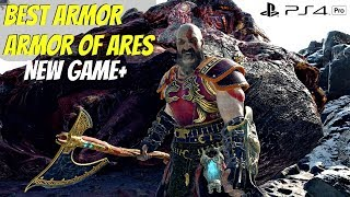 God of War 4 NG+ DRAGON Boss vs Blades of Chaos & ARMOR OF ARES Location & Stats (GoW 2018) PS4 Pro