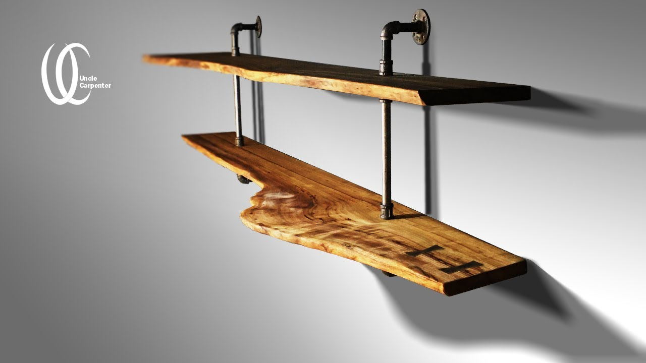 If she have a carpenter older brother when creating a cafe, a beautiful shelf is created.
