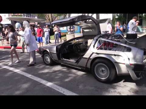 Doc Brown Arrives For Back To The Future Day Celebration At Universal Orlando