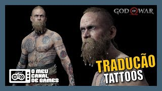 TRADUÇÃO TATTOOS BALDUR REVELA O RAGNAROK [God of War]
