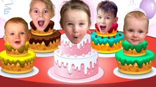 Happy Birthday Song | Kids Birthday party with Five Kids