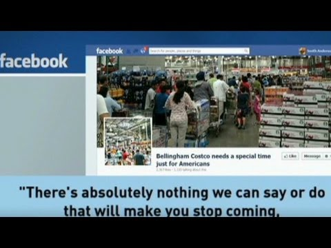Facebook Page: American-only Hours At Costco Near Canada