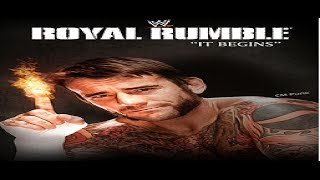 WWE Royal Rumble 2014 Poster Featuring CM Punk
