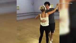 Damien Chazelle and Olivia Hamilton dance the viennese waltz