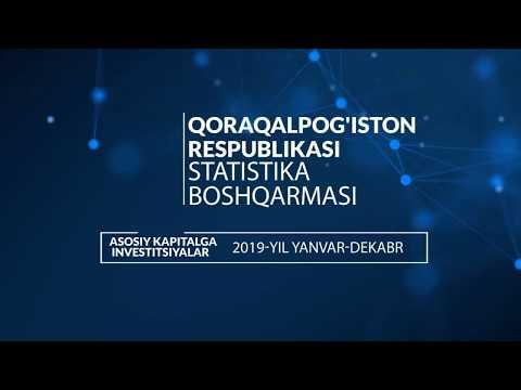 Qoraqalpoqg'istondagi Investitsion Holat. 2019