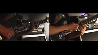 kingdom guitars onyx7 baritone 7 string electric guitar playthrough with andy constantinou