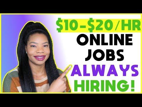 10 Companies ALWAYS Hiring | Work-From-Home Jobs 2020
