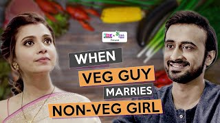 When Veg Guy Marries Non-Veg Girl | Ft. Abhinav Anand (Bade) & Shreya Gupto | RVCJ