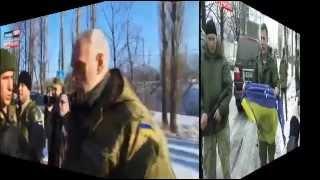 Захарченко передает флаг  ВСУ, Порошенко