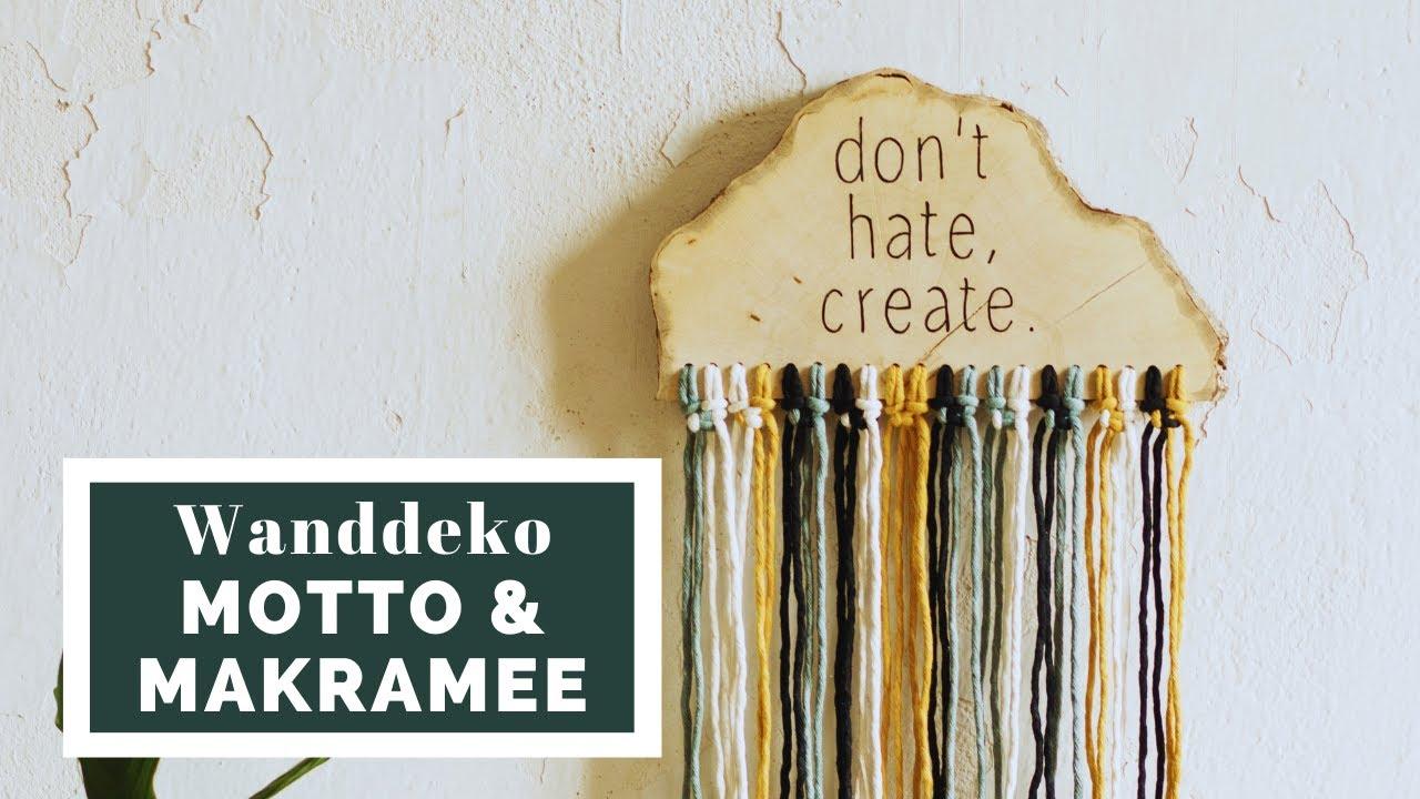 Kreative Wanddeko Aus Holz Und Wolle Makramee Muckout De