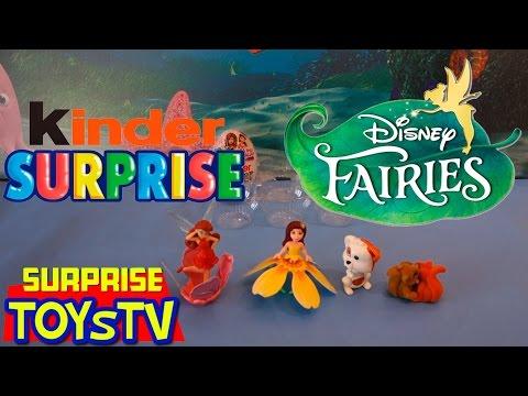 Открываем Киндер Сюрприз Феи Диснея Kinder Surprise Disney Fairies Unboxing