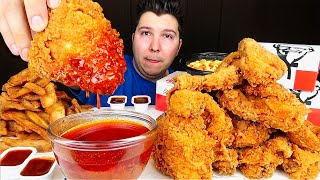 KFC Kentucky Fried Chicken With Nuclear Fire Sauce • MUKBANG