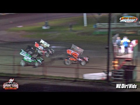 Highlights: Sprint Cars of New England | Bear Ridge Speedway 6 11 2016