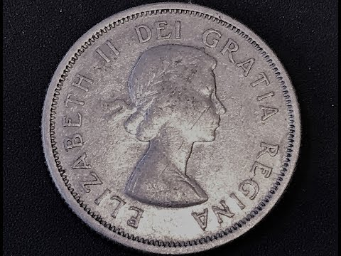 1964 Canadian Quarter High Silver Content Valuable