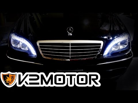Full download mercedes w220 s500 s430 headlight removal for Mercedes benz s430 headlight replacement