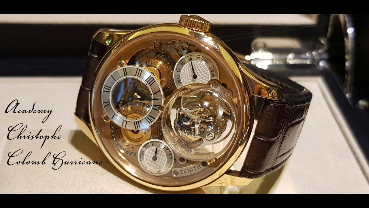 Часы стоимостью более четверти миллиона долларов Zenith Academy Christophe Colomb Hurricane.