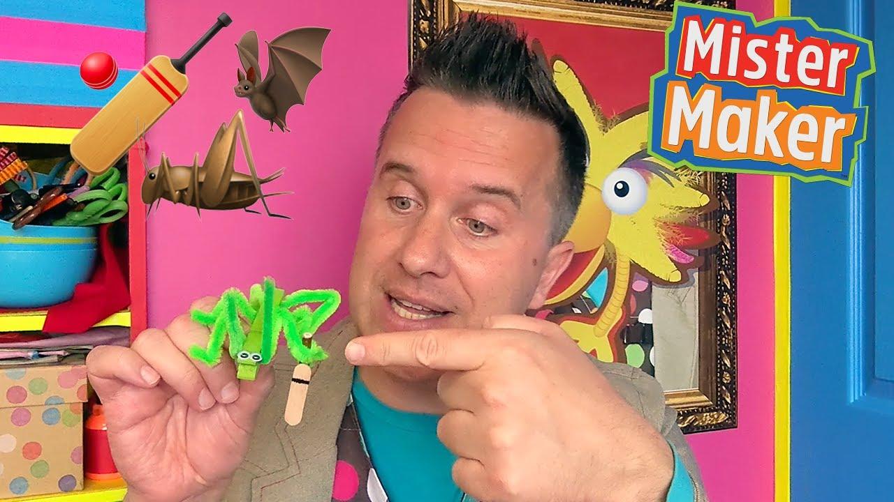 Make it Mister Maker: Cricket Bat World Cup Bug Make 🏏🦇🦗