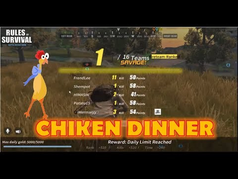 CHICKEN DINNER   RULES OF SURVIVAL   RULES OF SURVIVAL PH   SEMI RAW FOOTAGE