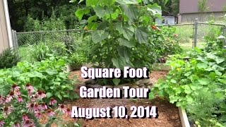 River Square Foot Garden Tour Herbs & Veggies PLUS Gardening Tips