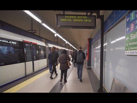 Spain, Madrid, Metro ride from Nuevos Ministerios to Plaza de Castilla