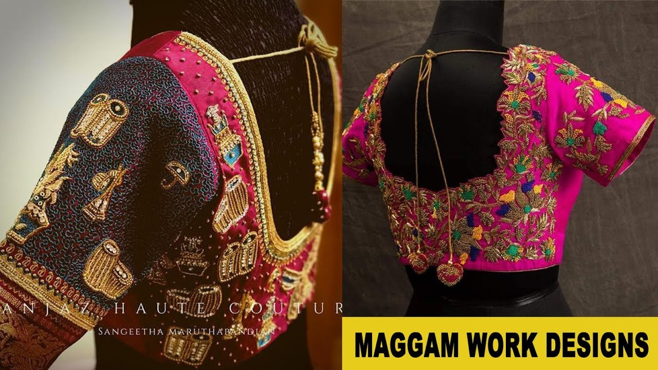 New Blouse Designs 2019 Maggam Worksheets Deepa Deepasen25 On Pinterest Blouses Discover The Latest Best Selling Shop Women S Shirts High Quality,Lace Simple Blouse Back Neck Designs Images