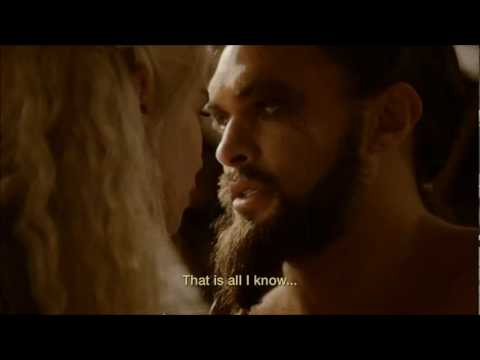 game of thrones season 2 episode10 - khal drogo and Daenerys