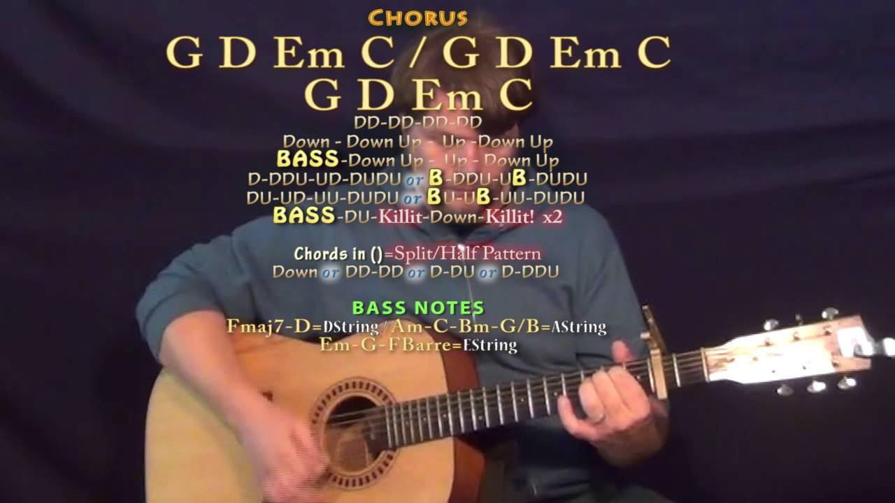 Wanna Be That Song Brett Eldredge Guitar Lesson Chord Chart Capo