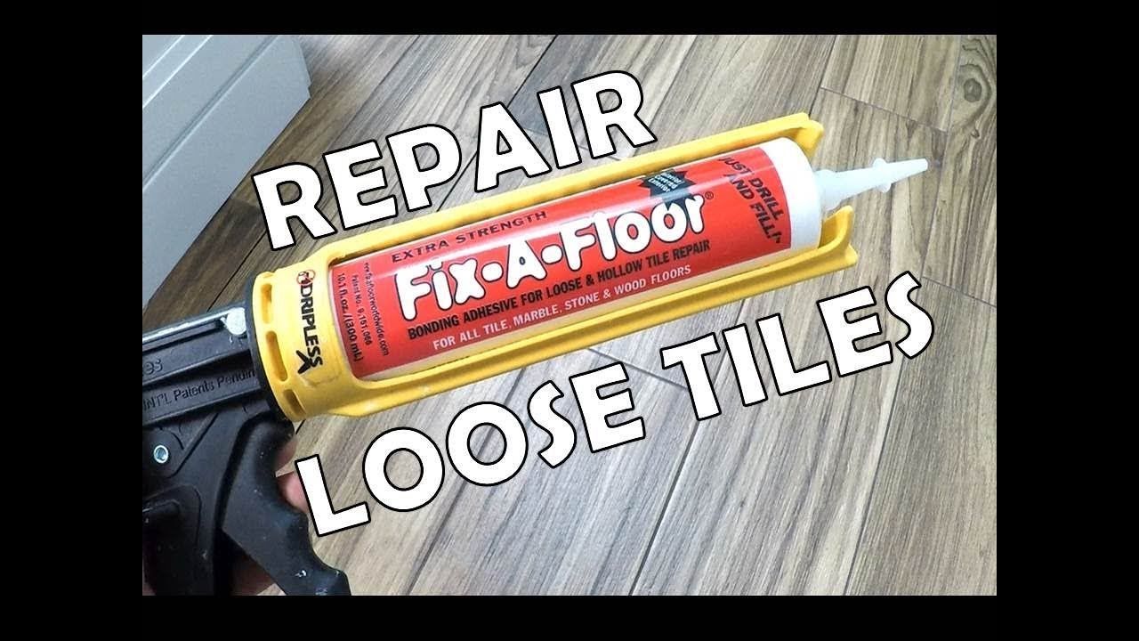 How To Repair A Loose Tile Fix A Floor Youtube