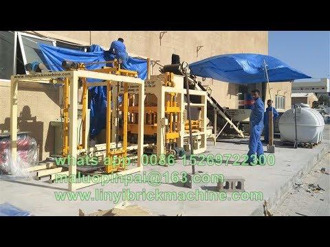 Full range video Fuda machinery QT4-18 automatic concrete block machine