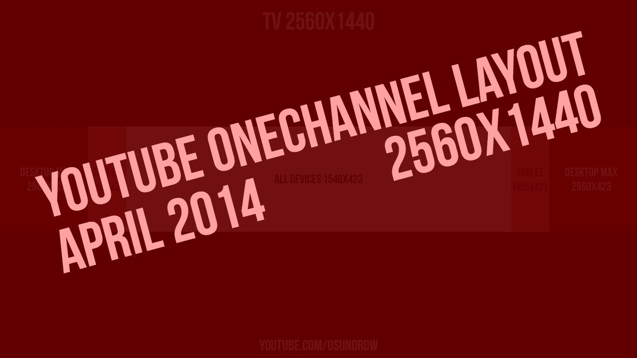 Free Onechannel 20 Psd Template 2560x1440 Youtube