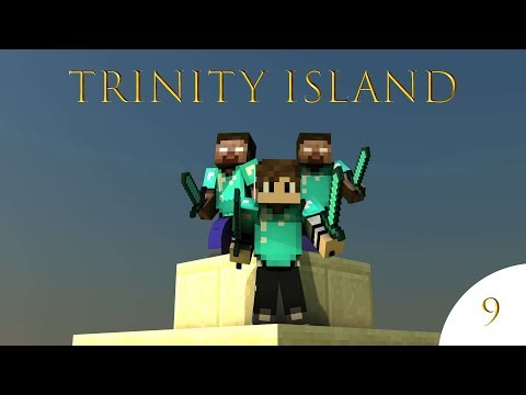 WAIT!?! WHAT!?! AN ACTUAL HOUSE FINALLY? - Minecraft: Trinity Island Episode 9