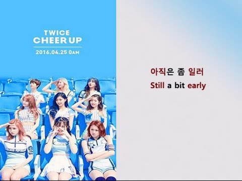 Twice - Cheer Up Lyrics Video for Korean Learners