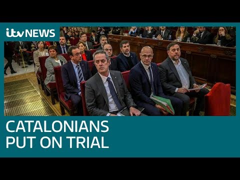 Trial of Catalan separatist leaders opens amid political crisis in Spain   ITV News