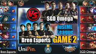 Game2 Bren VS SGD Omega    JustML League Playoffs