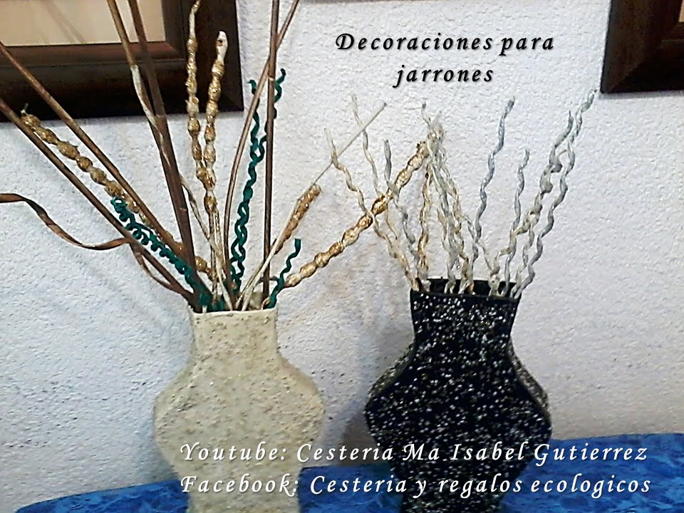 Adornos para jarrones diy decorations for vases youtube for Adornos con botellas para plantas