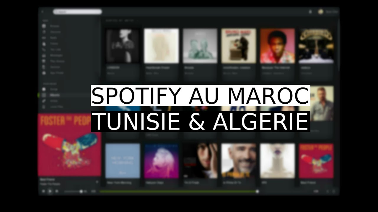 spotify au maroc tunisie algerie youtube. Black Bedroom Furniture Sets. Home Design Ideas