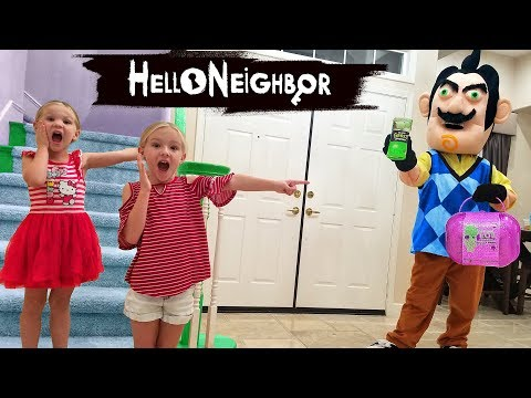 Hello Neighbor in Real Life! Gross Smashers & Bigger LOL Surprise Toy Scavenger Hunt!!