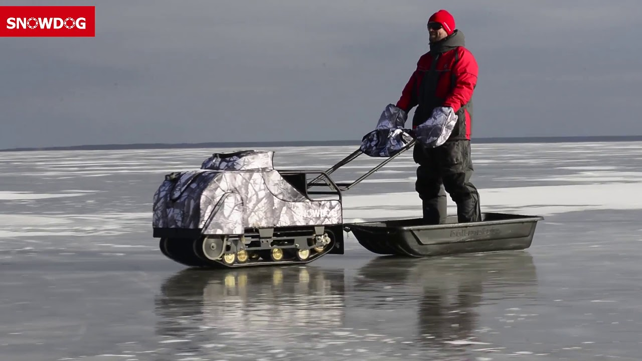 SnowDog - The ultimate machine for ice fishing, hunting