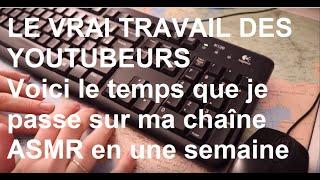 ASMR français - Le vrai travail que représente une chaîne Youtube.