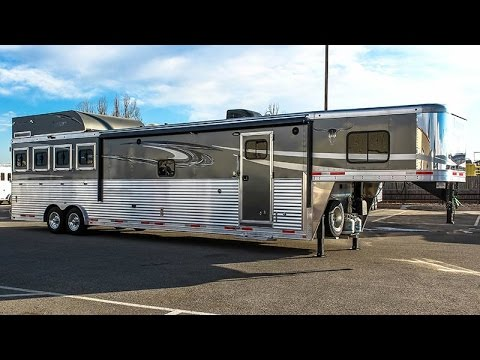 2016 Lakota 4 Horse Gn Living Quarters Trailer Transwest Truck