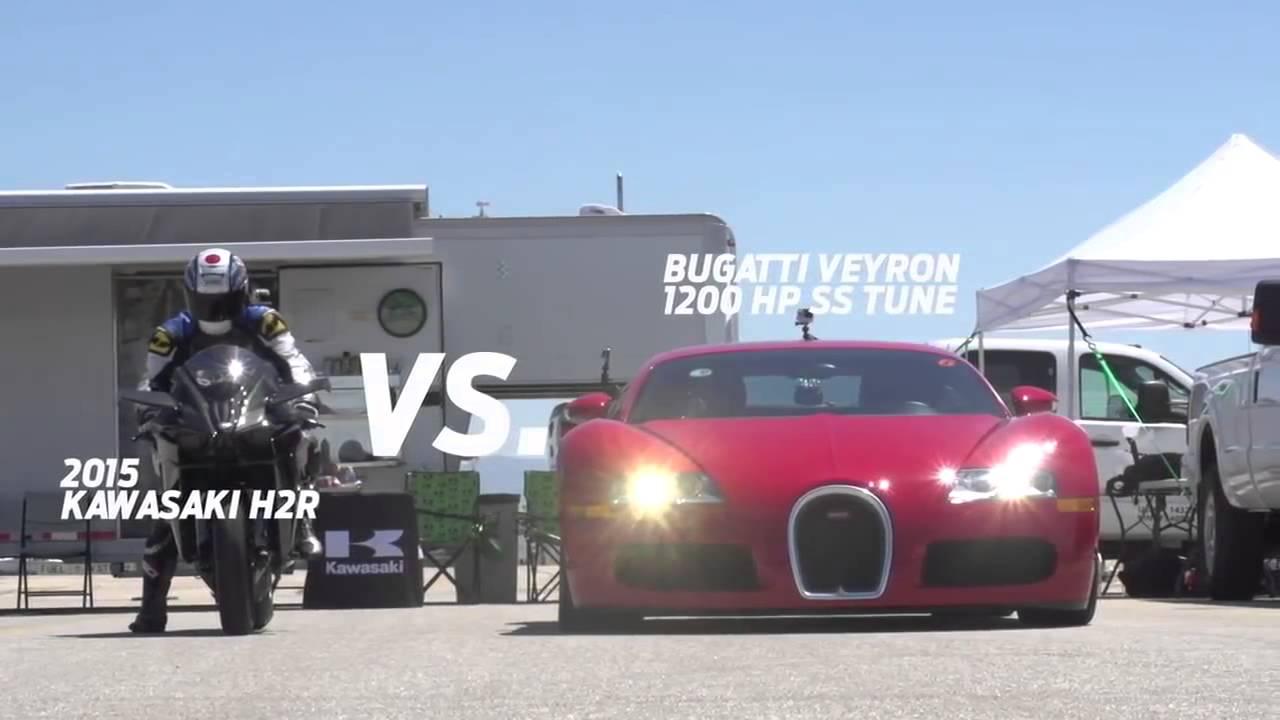 Bike Vs Cars Kawasaki Ninja Vs Mclaren Tuned Bugatti